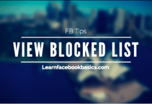 View Block list