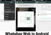 Whatsapp web in Android