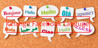 Change Language to English On Facebook