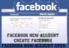 Facebook New Account – Create Facebook
