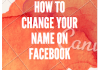 How to change my facebook username