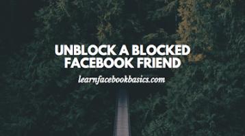 Unblock Someone On Facebook (Via Browser / App)   Unblock Facebook Friend