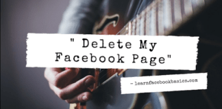 Delete My Facebook Page - How To Delete A Facebook Page