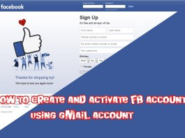 How to Use Gmail to Create a Facebook Account