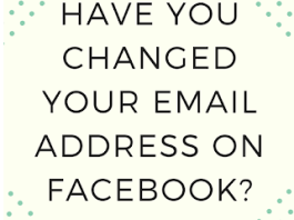How do I Change my email address on Facebook