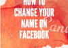 How to change your name on facebook 2020
