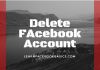 Delete my Facebook Account Permanently link