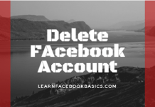 Delete my Facebook Account Permanently link