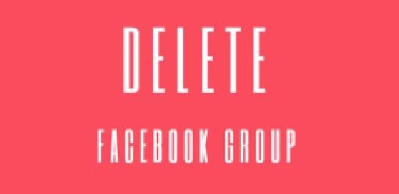 Delete-A-Facebook-Group