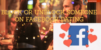 Block or unblock on Facebook Dating