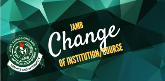 JAMB Change of Institution   JAMB Change of Course