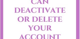 Deactivate Facebook Permanently   How can i delete Facebook