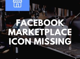 Facebook Marketplace Icon Missing