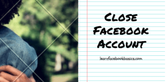 Close Facebook account temporarily and permanently