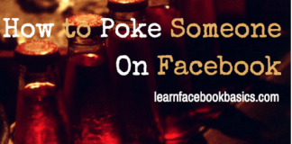 How to poke somebody that poked you on Facebook   How to Poke Someone On FB