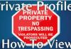 View Private Profile