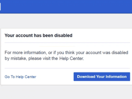 PERSONAL ACCOUNT DISABLED