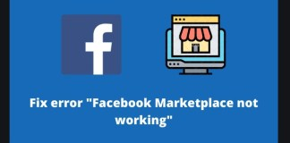 Facebook Marketplace fix error