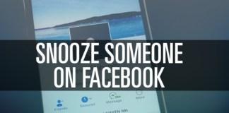 Snooze somone on Facebook