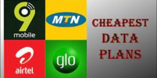The cheapest data plans provided by MTN, Airtel, Glo, and 9Mobile