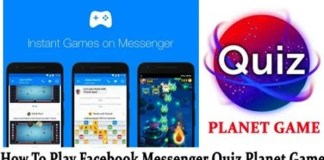 Facebook Messenger Quiz Planet Game and Cheats