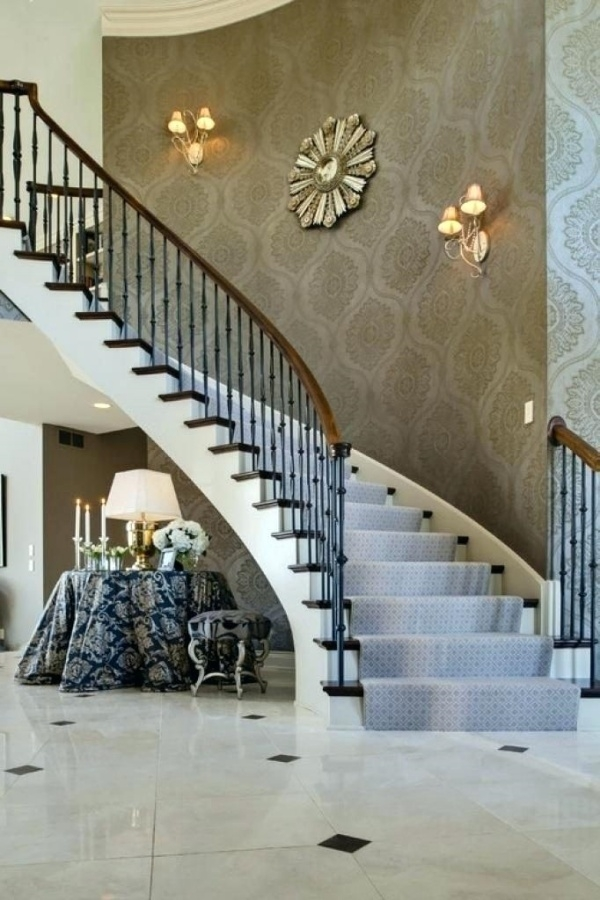 37 Stylish Stair Wall Decoration Designs And Ideas Buzz Hippy   Designs For Staircase Wall   Partition   Classy   Attractive   Luxury   Transitional