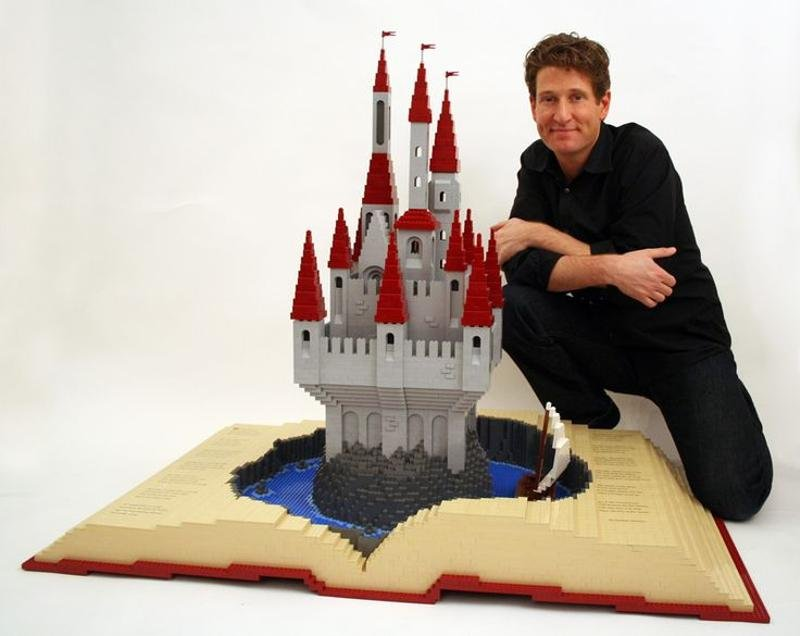 10 Of The Greatest Lego Structures Ever Created Nathan Sawaya is an extremely popular Lego artist  and his best work might  be a touching tribute to Waldo H  Hunt  A pop up book with a humongous  castle