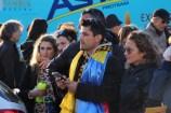 A l'image de ce supporter roumain venu encourager le champion de Roumanie, Serghei Tvetcov (Team Androni Giocattoli-Sidermec). (Crédit photo : Maxime Gil)
