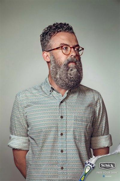 どこかが変な髭剃りの広告 (3)