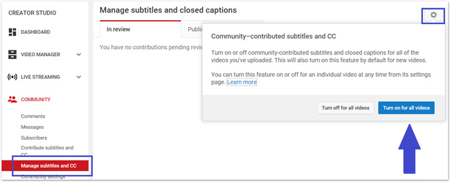 crowdsource captions and subtitles in Youtube