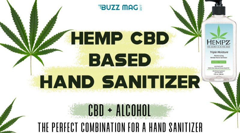 Hemp CBD based hand sanitizer