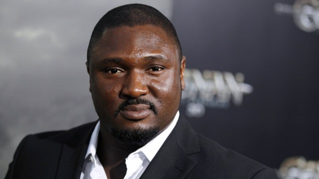 """Nonso Anozie arrives the premiere of """"Conan the Barbarian"""" in Los Angeles, Thursday, Aug. 11, 2011. """"Conan the Barbarian"""" opens in theaters Aug. 19, 2011. (AP Photo/Matt Sayles)"""