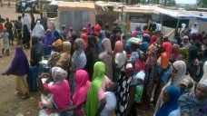 Image result for Military provides medical support to IDPs in Maiduguri NYSC camp