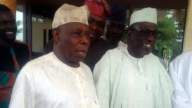Image result for PDP National leaders meet with Obasanjo
