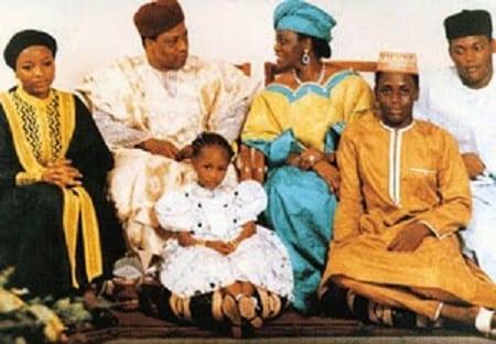 Ibrahim Babangida and family