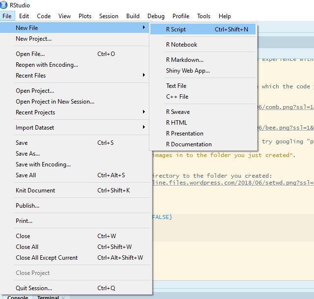starting a new script file