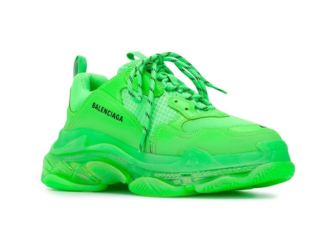 neon green balenciaga sneakers