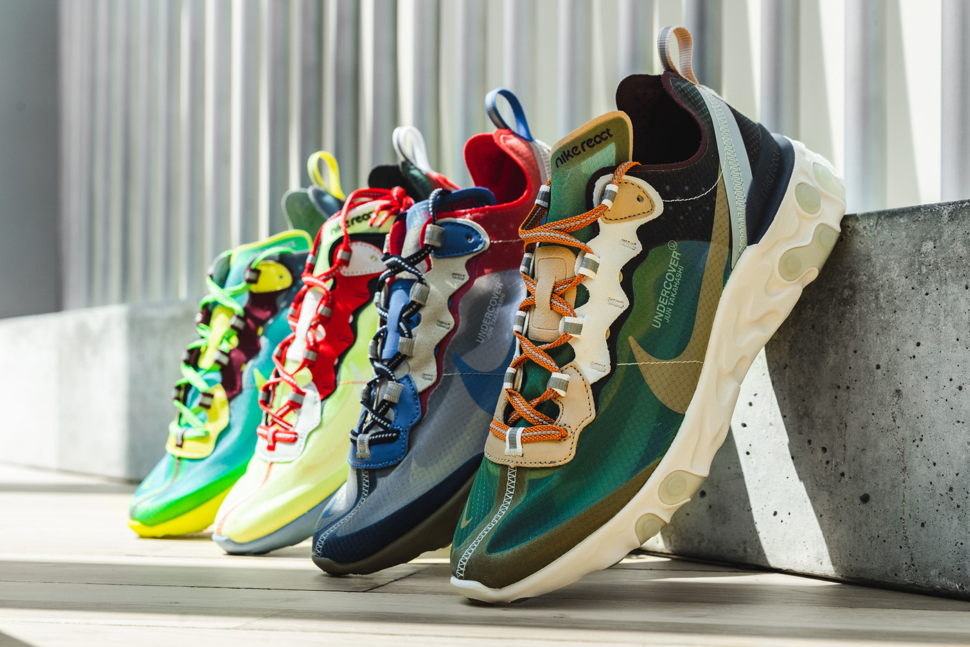 The UNDERCOVER x Nike React Element 87 Pack BUZZSNKR