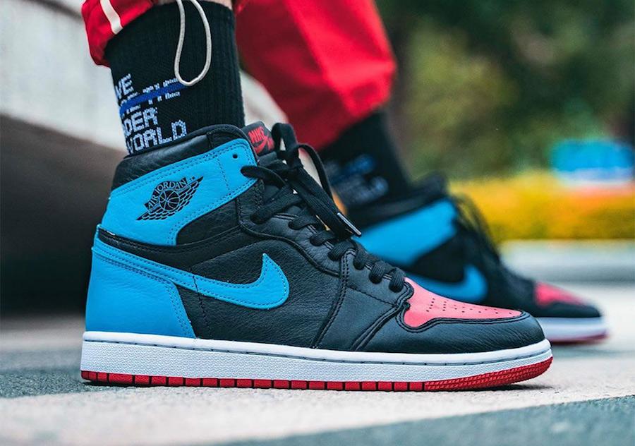 shoes nike air jordan 1 fearless aj1 blue patent leather