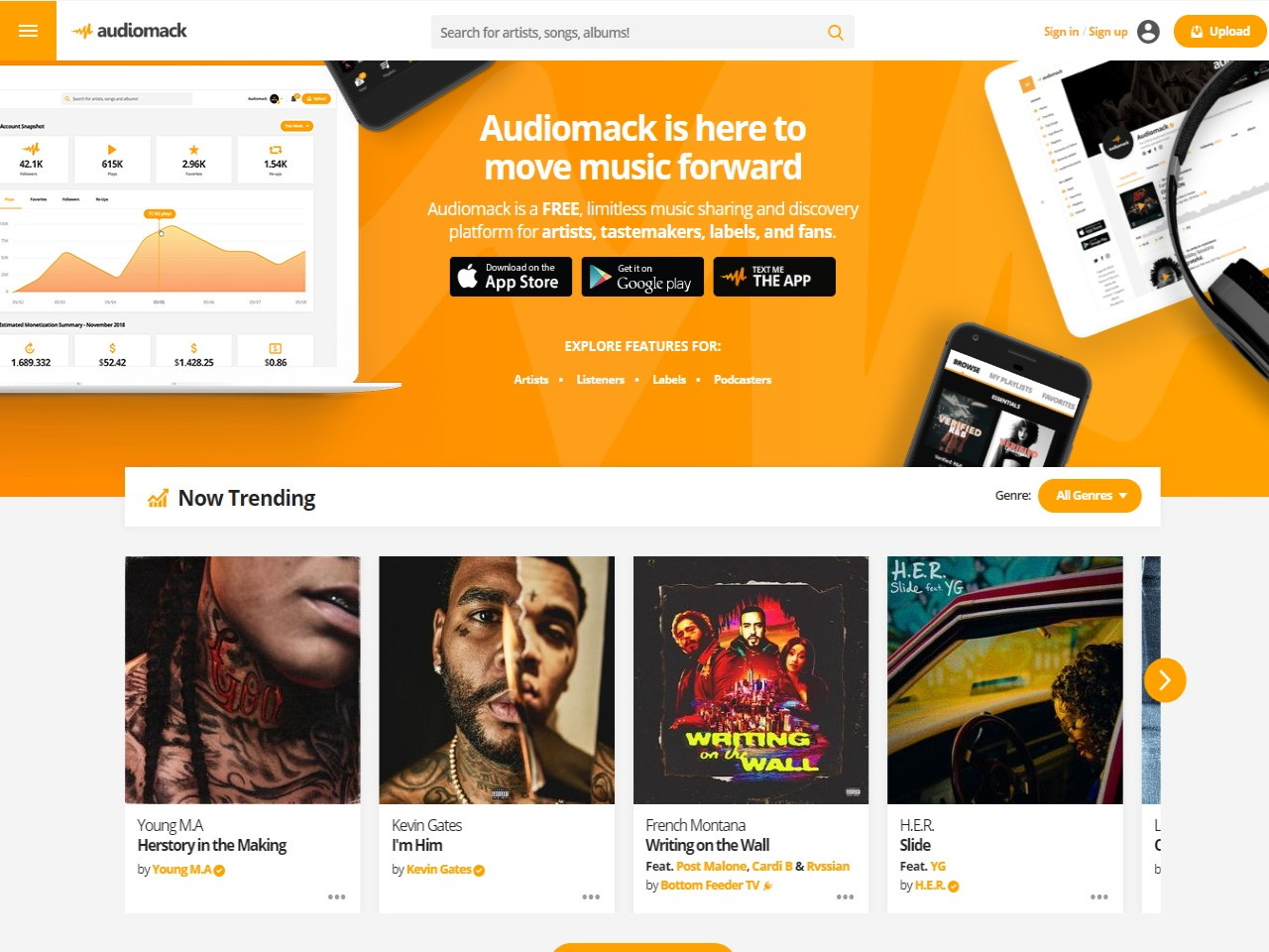 Audiomack Free Music Streaming Sharing