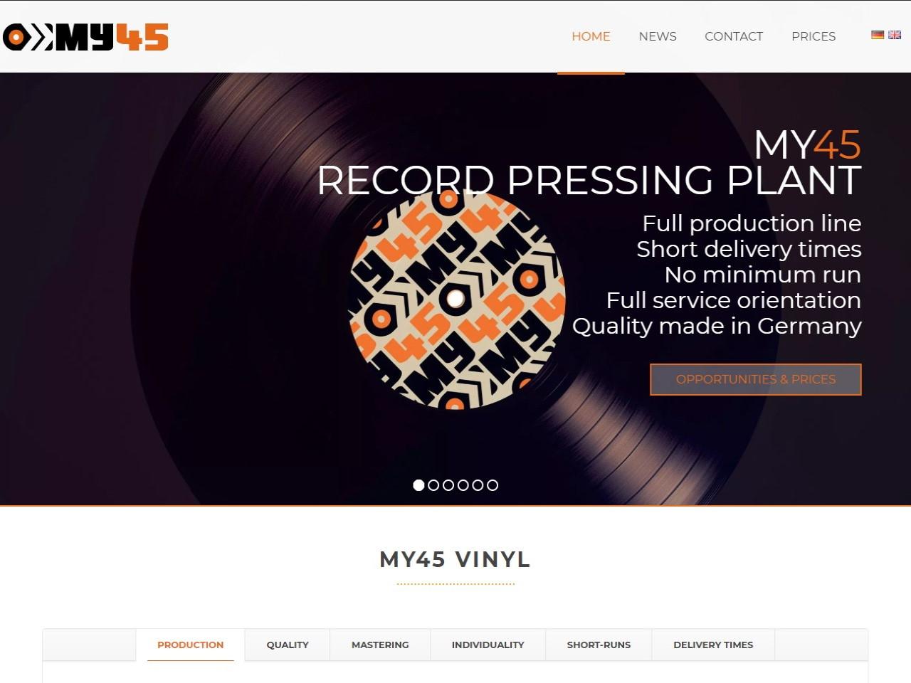 My45 German record pressing plant