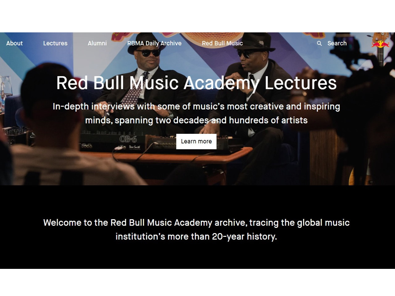 Red Bull Music Academy Archive