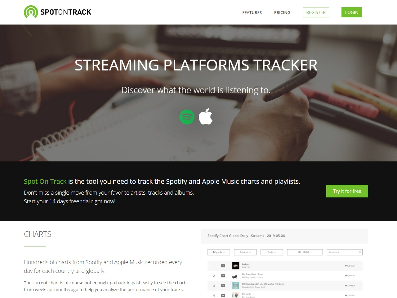 Spot On Track - The Spotify Apple Music tracker