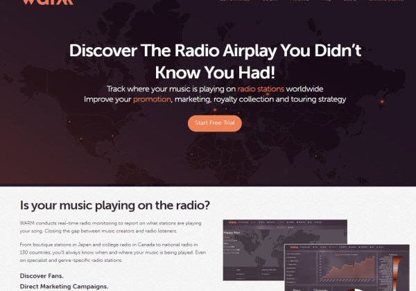 WARM World Airplay Radio Monitor Real-Time Monitoring