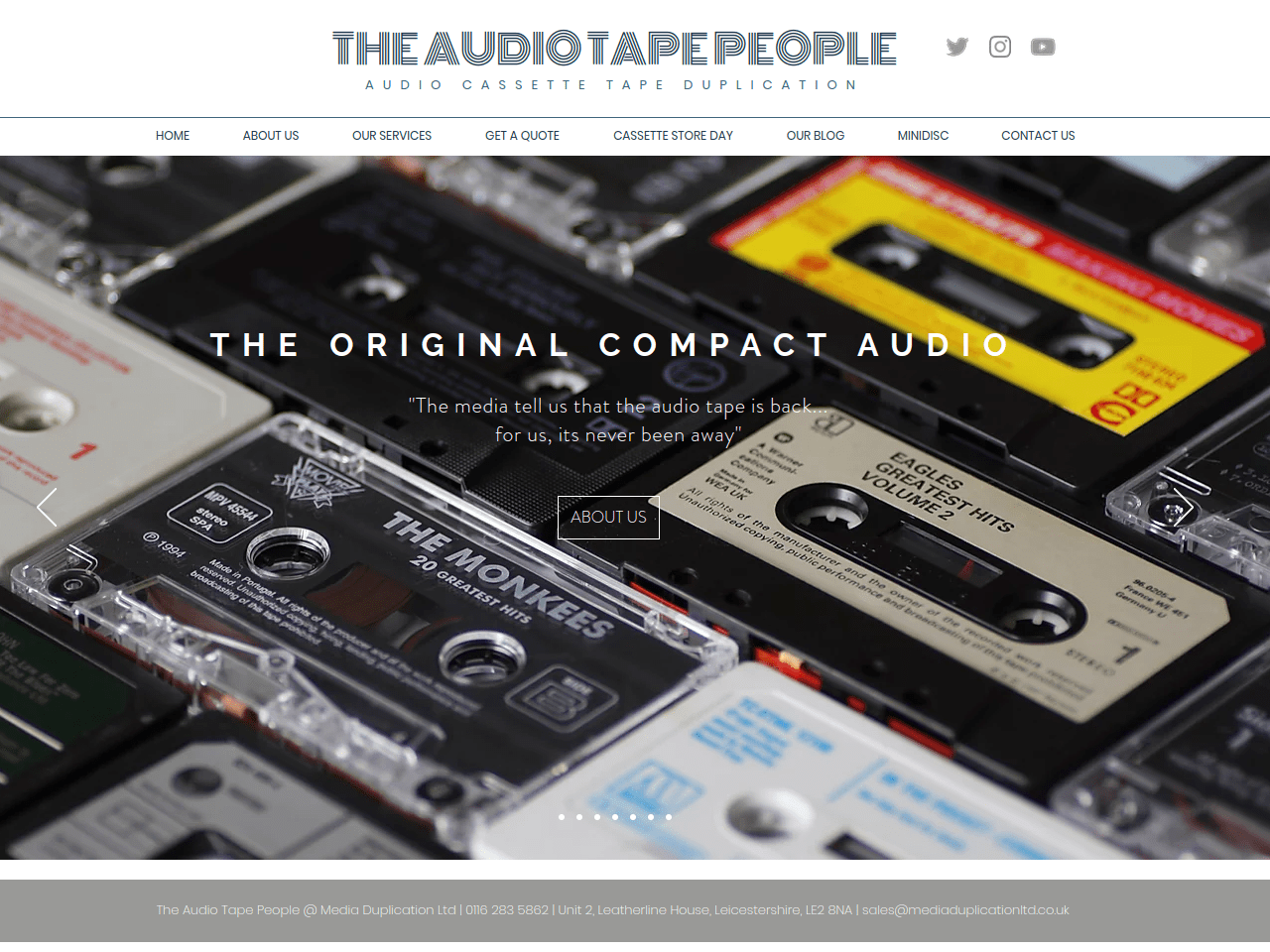 Audio Cassette Tape Duplication Leicester The Audio Tape People