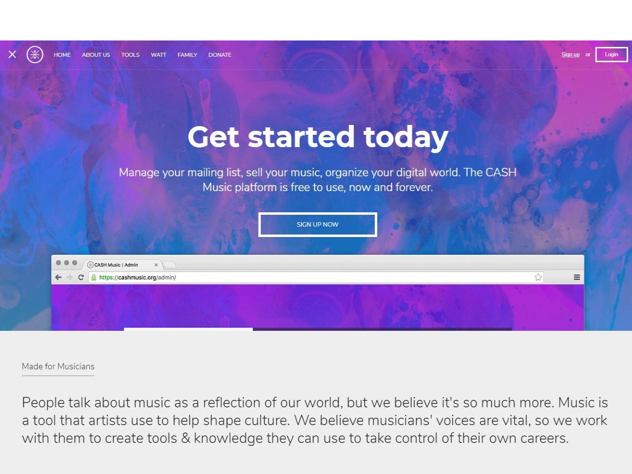 CASH Music DIY direct to fan music platform