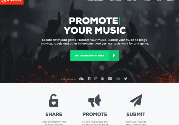 hypeddit music marketing tools