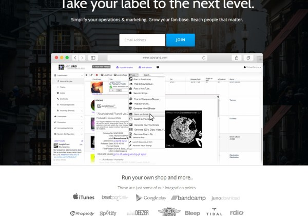 LabelGrid - Management and cloud-hosting for record labels