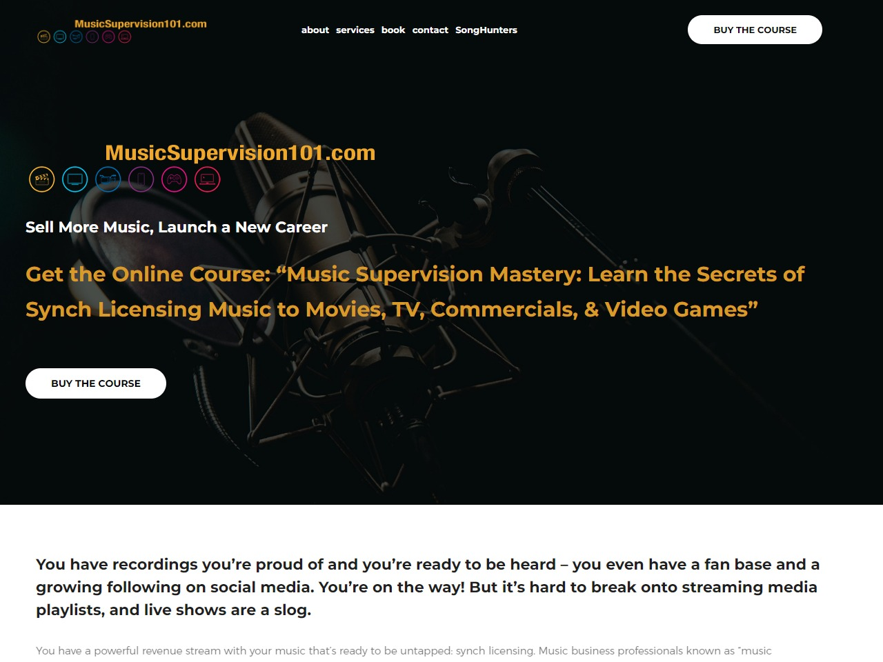 Music Supervision 101 - Online course and book