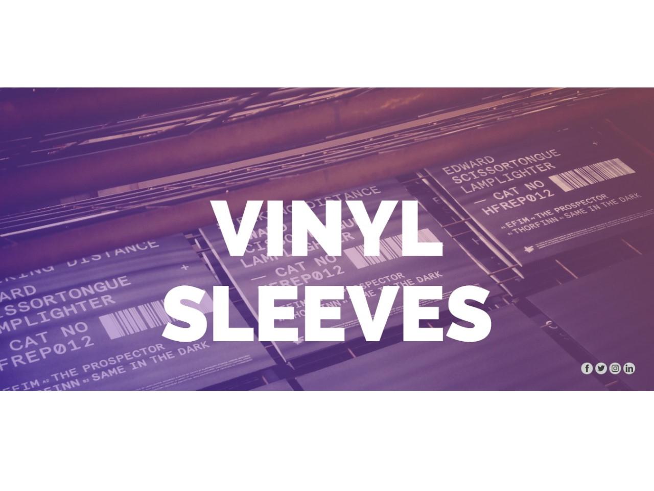 Screen Printed Vinyl Sleeves